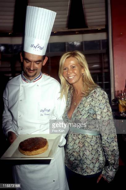 Guy Krenzer Fiona Gelin during Swatch Galette Party at Pavillon Lenotre Champs Elysees in Paris France