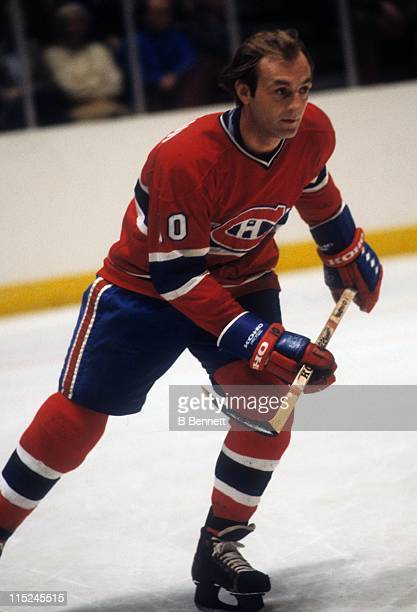 Guy Lafleur of the Montreal Canadiens skates on the ice during an NHL game in April 1979
