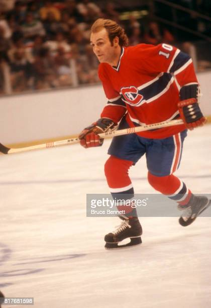 Guy Lafleur of the Montreal Canadiens skates on the ice during an NHL game against the New York Islanders circa 1978 at the Nassau Coliseum in...