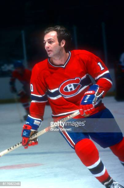 Guy Lafleur of the Montreal Canadiens skates on the ice during an NHL game against the New York Islanders circa 1984 at the Nassau Coliseum in...