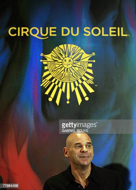 Guy Laliberte CEO of Le Cirque du Soleil poses during a press conference 19 November 2007 in Hollywood California Le Cirque du Soleil announced that...