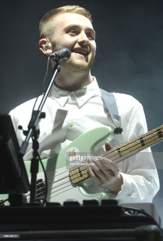 Guy Lawrence of Disclosure performs as part of the Coachella Valley Music and Arts Festival at The Empire Polo Club on April 20, 2014 in Indio, California.