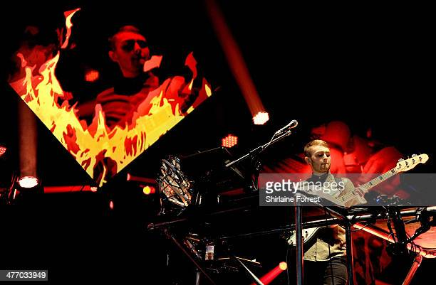 Guy Lawrence of Disclosure performs at Manchester Apollo on March 6 2014 in Manchester England