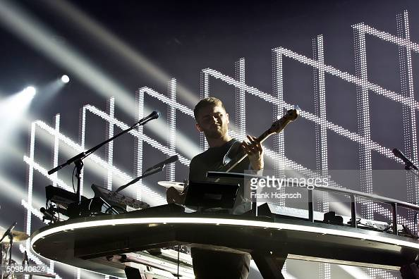 Guy Lawrence of the British band Disclosure performs live during a concert at the Arena on February 12 2016 in Berlin Germany