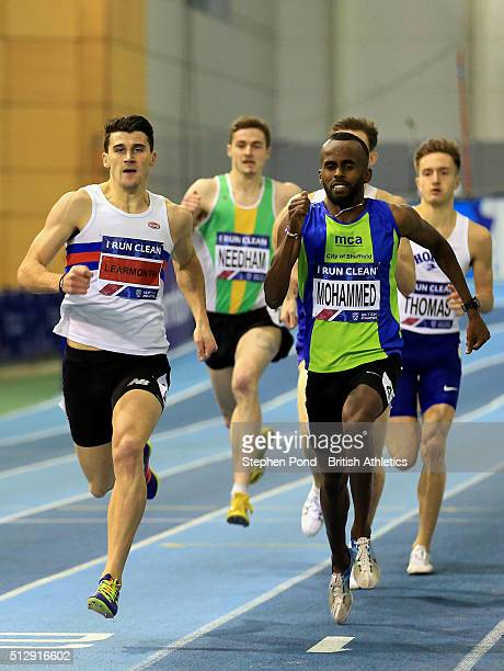 Guy Learmonth of Great Britain in the mens 800m during day two of the Indoor British Championships at the English Institute of Sport on February 28...