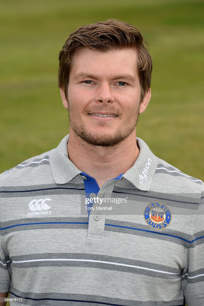 Guy Lewis First Team Strength and Conditioning Coach poses for a portrait during the Bath Rugby squad photo call for the 20162017 Aviva Premiership...