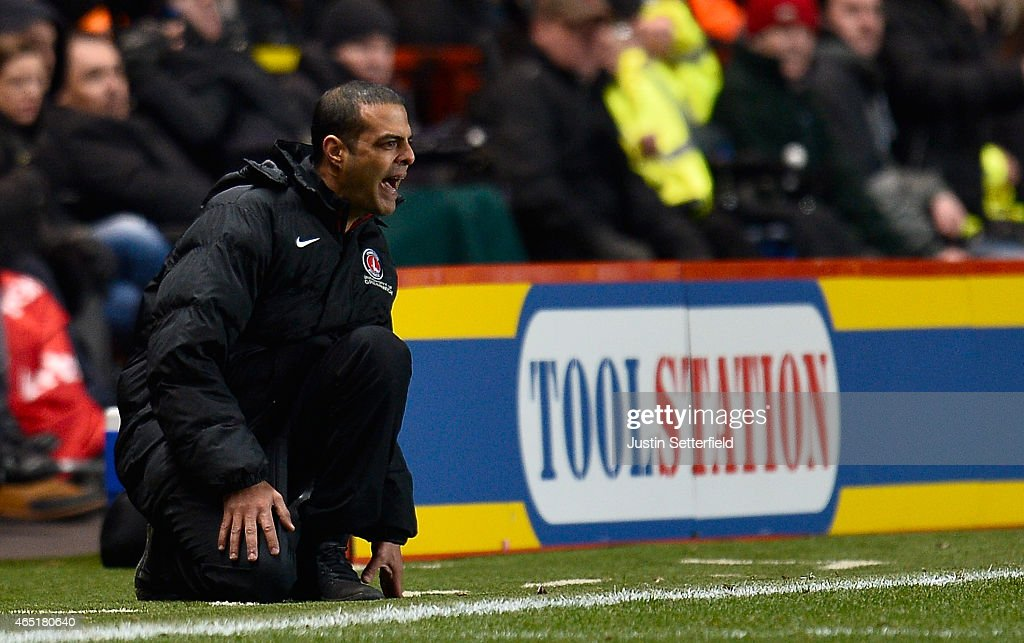 <a gi-track='captionPersonalityLinkClicked' href=/galleries/search?phrase=Guy+Luzon&family=editorial&specificpeople=4595259 ng-click='$event.stopPropagation()'>Guy Luzon</a> Manager of Charlton Athletic during the Sky Bet Championship match between Charlton Athletic and Nottingham Forest at The Valley on March 3, 2015 in London, England.