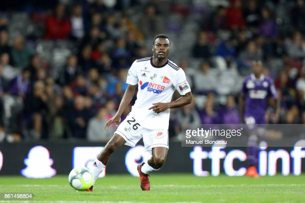 Guy Massoma Ngosso of Amiens during the Ligue 1 match between Toulouse and Amiens SC at Stadium Municipal on October 14 2017 in Toulouse
