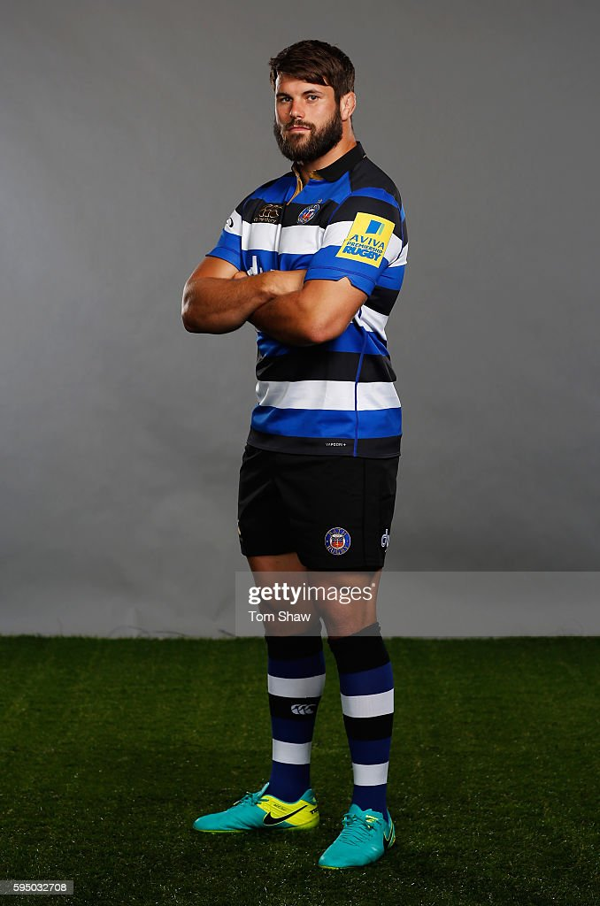 Guy Mercer Captain of Bath rugby poses for a portrait during the Aviva Premiership Rugby 20162017 Season Launch at Twickenham Stadium on August 25...