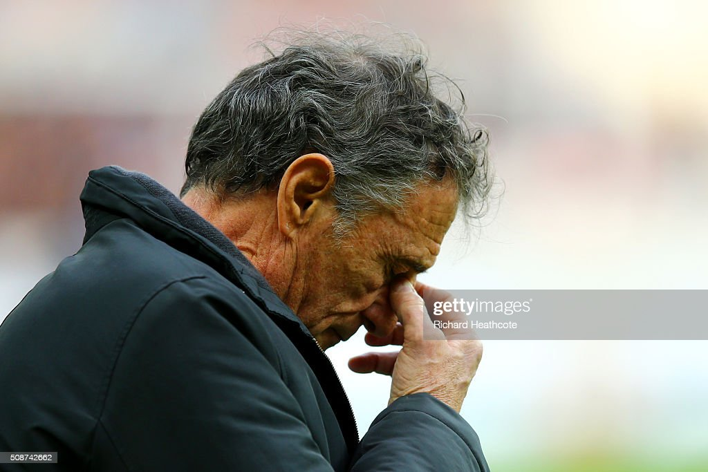 <a gi-track='captionPersonalityLinkClicked' href=/galleries/search?phrase=Guy+Noves&family=editorial&specificpeople=576406 ng-click='$event.stopPropagation()'>Guy Noves</a>, Head Coach of France looks on during the RBS Six Nations match between France and Italy at Stade de France on February 6, 2016 in Paris, France.