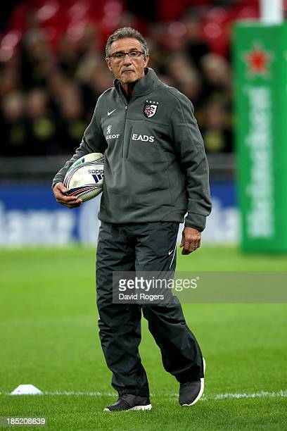 Guy Noves the Toulouse head coach looks on prior to kickoff during the Heineken Cup pool three match betwen Saracens and Toulouse at Wembley Stadium...