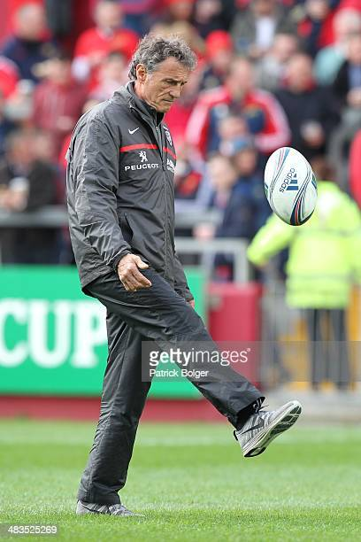 Guy Noves Toulouse coach before the Heineken Cup Quarter Final match between Munster and Toulouse at Thomond Park on April 5 2014 in Limerick Ireland