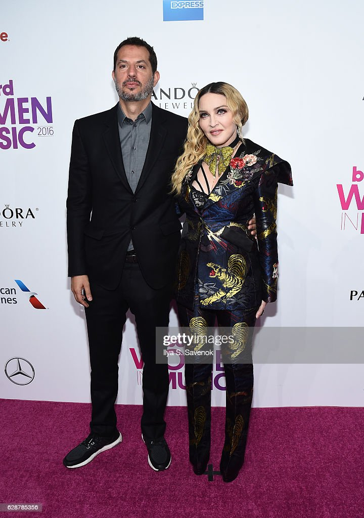 Guy Oseary and Madonna attend Billboard Women In Music 2016 Airing December 12th On Lifetime at Pier 36 on December 9, 2016 in New York City.