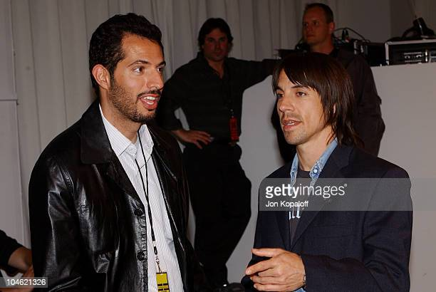 Guy Oseary Anthony Kiedis during Playstation 2 Hosts Shawn At LA Fashion WeekFashion Show and Party at The Standard Hotel Downtown in Los Angeles...