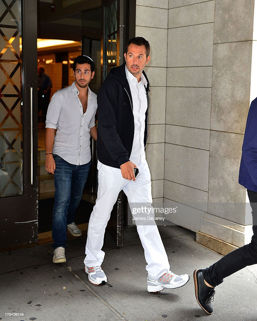 <a gi-track='captionPersonalityLinkClicked' href=/galleries/search?phrase=Guy+Oseary&family=editorial&specificpeople=243241 ng-click='$event.stopPropagation()'>Guy Oseary</a> leaves the Kabbalah Center International on July 12, 2013 in New York City.