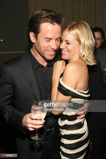 Guy Pearce and Sienna Miller during The Cinema Society and Calvin Klein Host a Screening of 'Factory Girl' After Party at Gramercy Park Hotel at 2...
