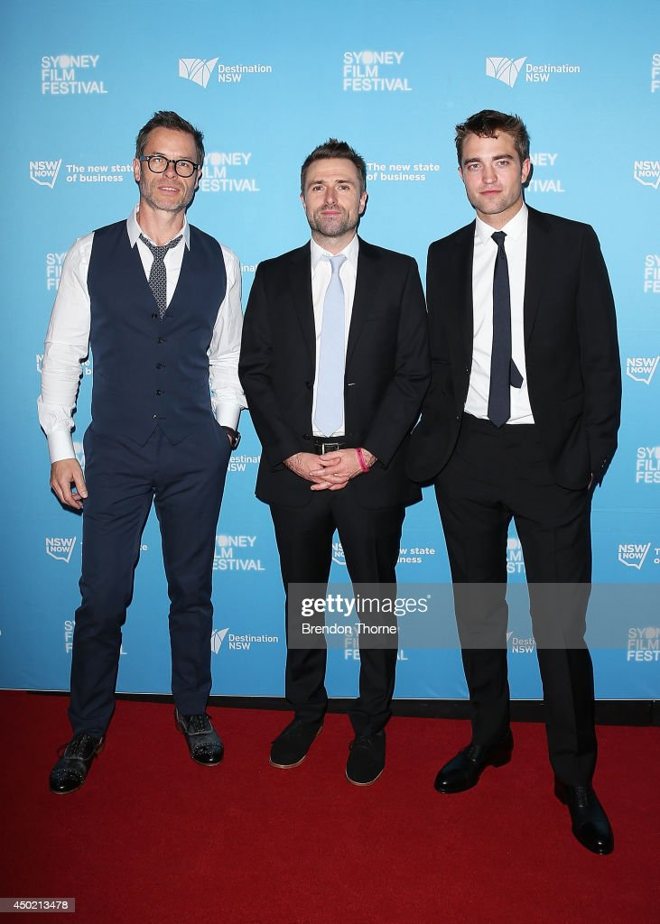 Guy Pearce David Michod and Robert Pattinson walk the red carpet at the Australian Premiere of The Rover at the State Theatre on June 7 2014 in...