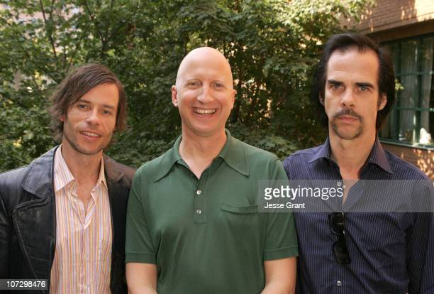 Guy Pearce John Hillcoat and Nick Cave during 2005 Toronto Film Festival HP Portrait Studio Presented by WireImage and Inside Entertainment Day 4 at...