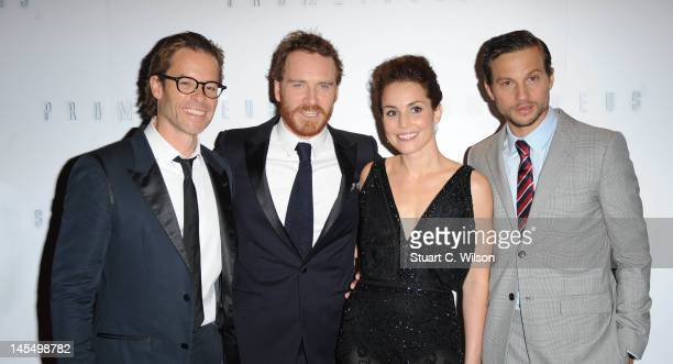 Guy Pearce Michael Fassbender Noomi Rapace and Logan MarshallGreen attend the world premiere of Prometheus at Empire Leicester Square on May 31 2012...
