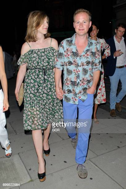 Guy Pelly and Lizzy Wilson arriving at the VA Summer party on June 21 2017 in London England