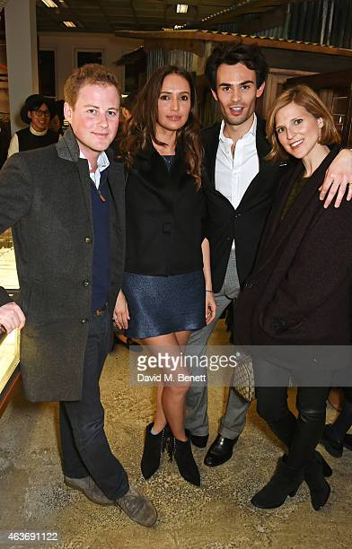 Guy Pelly Sasha Volkova Mark Francis Vandelli and Lizzy Wilson attend the Dior 'Diorama' Launch at Dover Street Market on February 17 2015 in London...