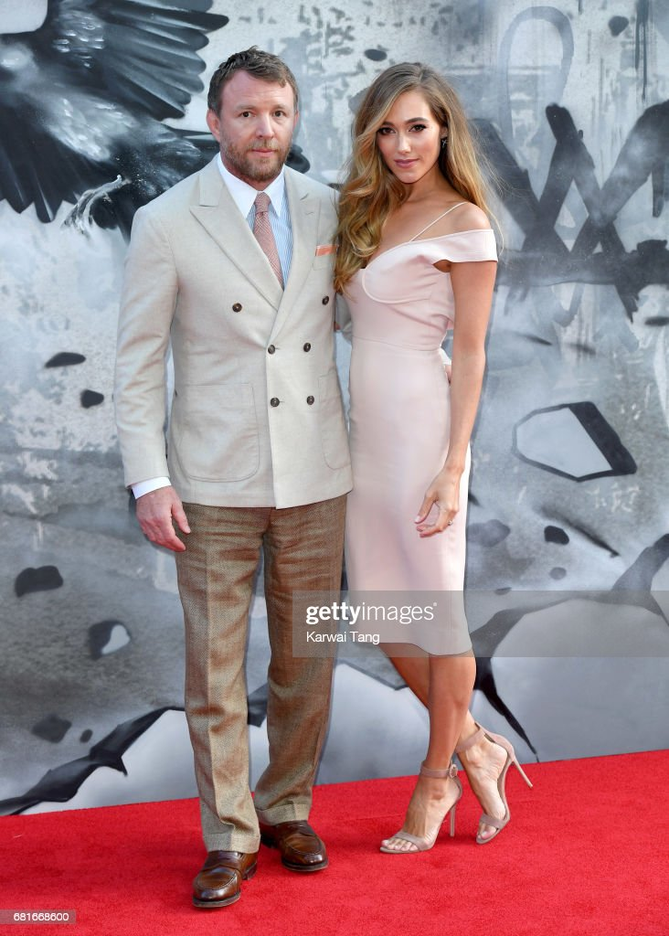 Guy Ritchie and Jacqui Ainsley attend the European premiere of 'King Arthur: Legend of the Sword' at Cineworld Empire on May 10, 2017 in London, United Kingdom.