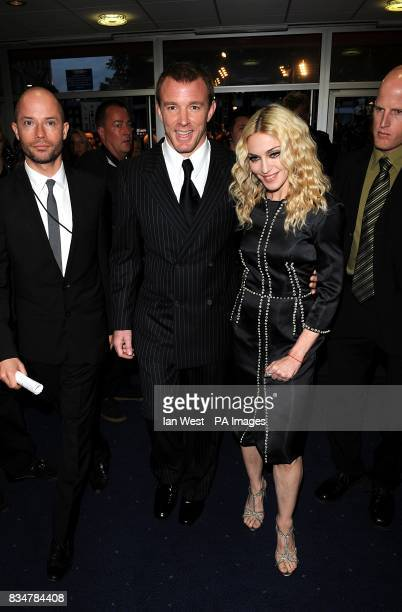 Guy Ritchie and Madonna arrive for the UK Film Premiere of RocknRolla at the Odeon West End Cinema Leicester Square London