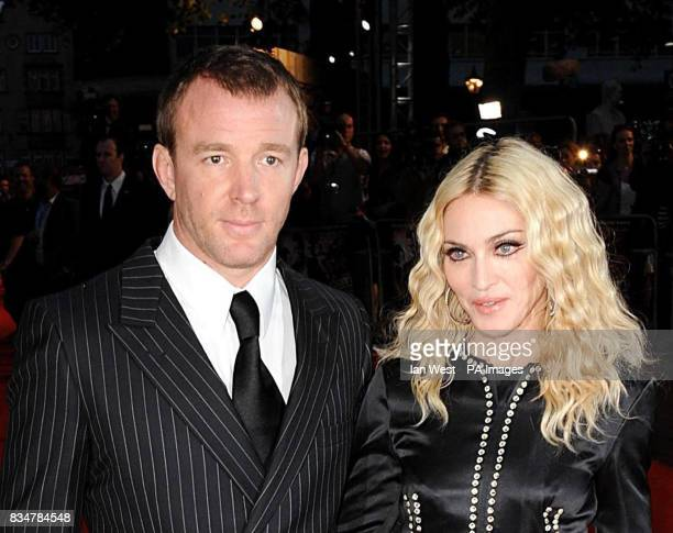 Guy Ritchie and Madonna attend the UK Premiere of Guy Ritchie's latest film RocknRolla Leicester Square in central London