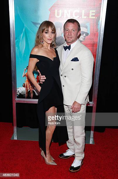 Guy Ritchie and wife Jacqui Ainsley attend the New York Premiere for 'The Man From UNCLE' at Ziegfeld Theater on August 10 2015 in New York City