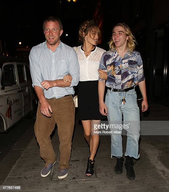 Guy Ritchie Jacqui Ainsley and Rocco Ritchie leaving the Chiltern Firehouse on June 18 2015 in London England
