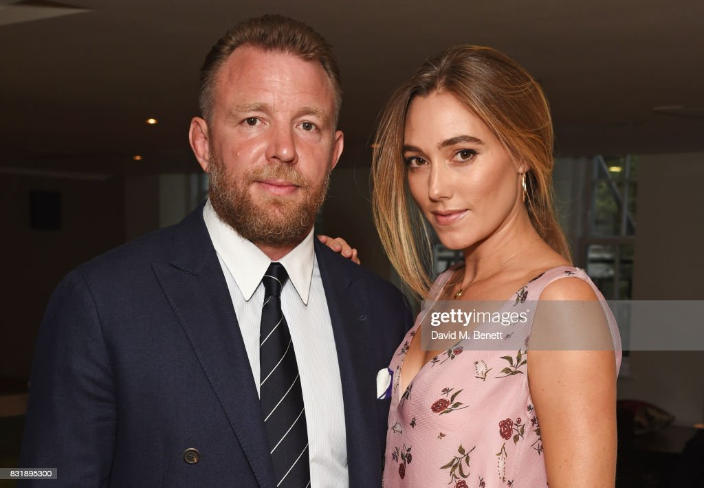 Guy Ritchie, winner of the Auteur Award, and wife Jacqui Ainsley attend the Raindance Film Festival anniversary drinks reception at The Mayfair Hotel on August 15, 2017 in London, England.