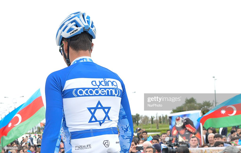 Guy Sagiv, the National Chapion of Israel from Cycling Academy Team, pictured ahead the the opening stage of the 5th Tour d'Azerbaijan 2016, Baku to Sumqayitl Stage (153.5 km). This is a historic first time ever Israeli athlete participation when he wears an official Israeli jersey in a muslim country. Sumqayitl, Azerbaijan, on Wednesday, 4 May 2016.