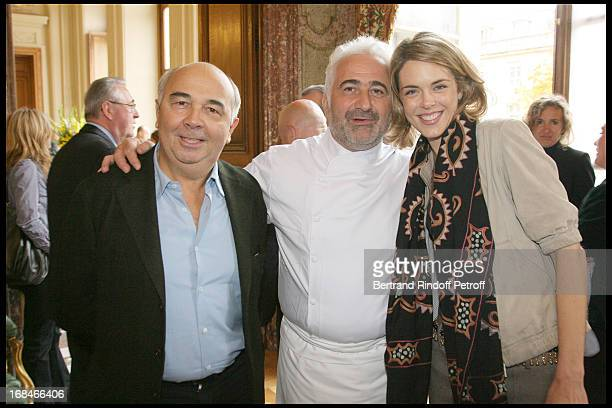 Guy Savoy Gerard Jugnot Julie Andrieu at Gastronomic Lunch Cooked By Famed Chefs For France's Candidacy To Unesco's World Heritage At L' Hotel De...