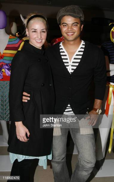 Guy Sebastian and girlfriend Jules Egan during Myer Fashion and Installation Party May 30 2006 at Myer Store in Sydney NSW Australia