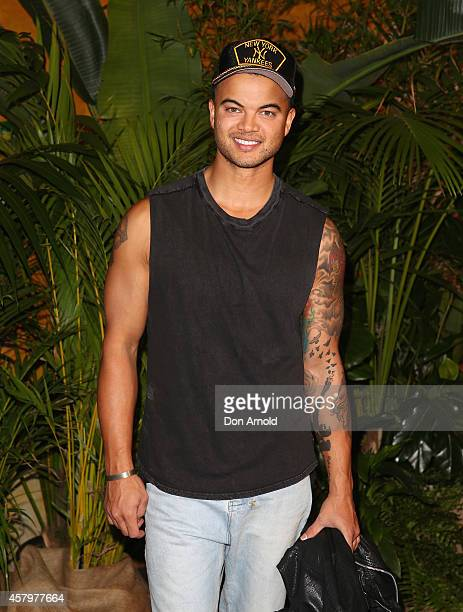 Guy Sebastian arrives at Cirque du Soleil TOTEM Sydney Premiere on October 28 2014 in Sydney Australia