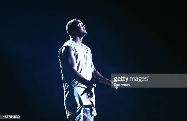 Guy Sebastian performs live at Qantas Credit Union Arena on February 18 2015 in Sydney Australia