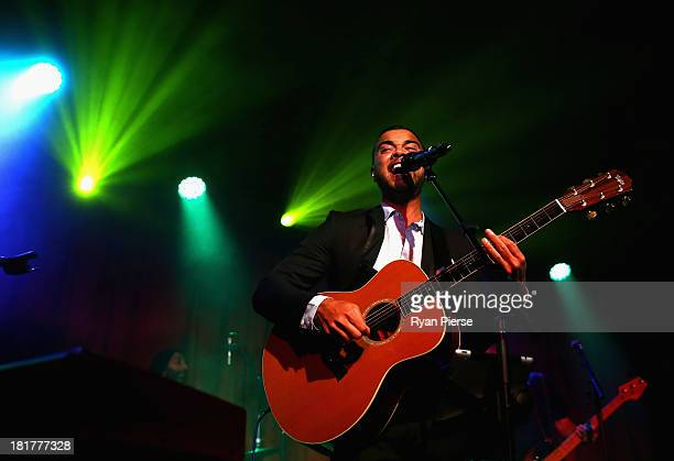 Guy Sebastian performs live at the Beresford Surrey Hills on September 25 2013 in Sydney Australia
