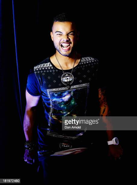 Guy Sebastian poses prior to the Nickelodeon Slimefest 2013 matinee show at Sydney Olympic Park Sports Centre on September 27 2013 in Sydney Australia