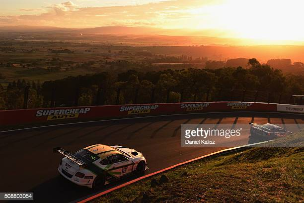 Guy Smith drives the Mobil 1 Naim Audio Breitling Bentley Continentail GT3 during the Bathurst 12 Hour Race at Mount Panorama on February 7 2016 in...