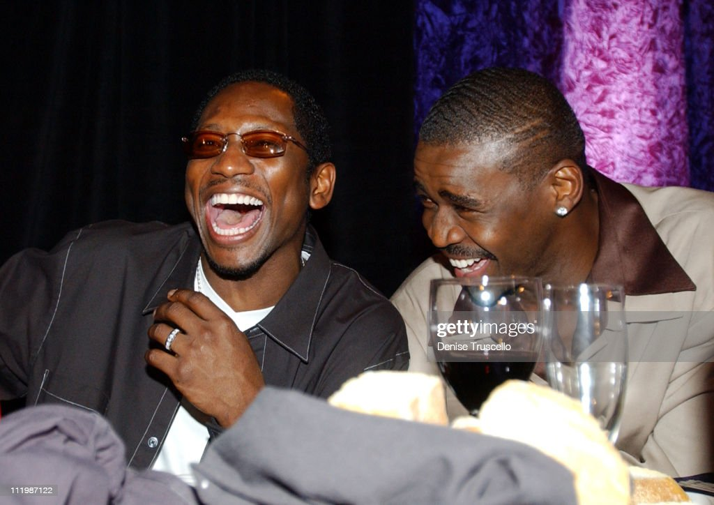 Guy Torry and Michael Irvin during Joe and Gavin Maloof Celebrity Roast at Palms Hotel in Las Vegas, Nevada.