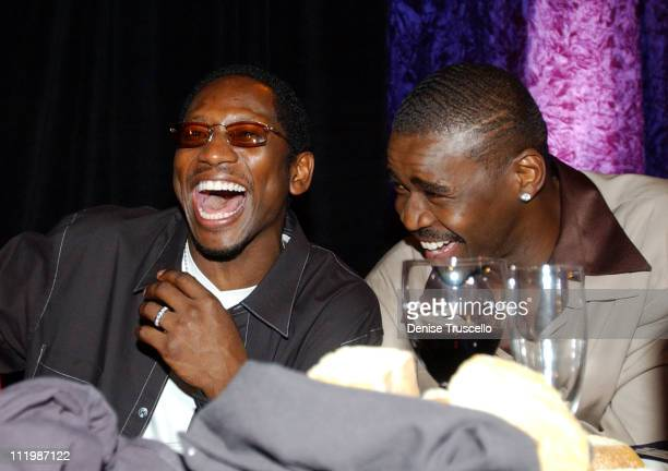 Guy Torry and Michael Irvin during Joe and Gavin Maloof Celebrity Roast at Palms Hotel in Las Vegas Nevada