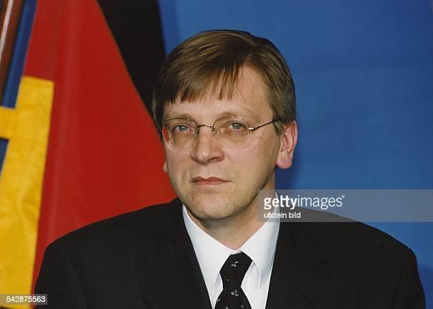 Guy Verhofstadt Premierminister von Belgien Aufgenommen Dezember 1999