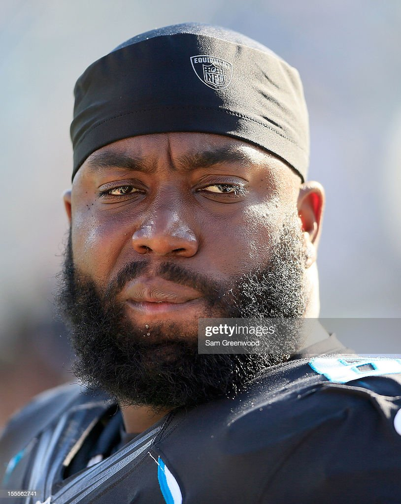 Guy Whimper #68 of the Jacksonville Jaguars watches the action during the game against the Detroit Lions at EverBank Field on November 4, 2012 in Jacksonville, Florida.