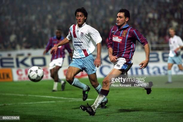 Guy Whittingham Aston Villa in action against Trabzonspor