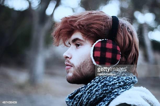 Guy with earmuffs