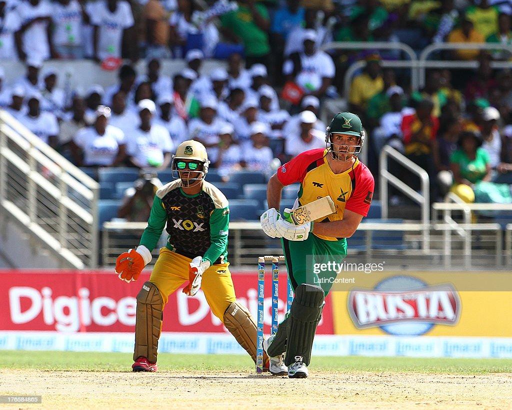 Guyana Amazon Warriors James Franklin during the Sixteenth Match of the Cricket Caribbean Premier League between Jamaica Tallawahs v Guyana Amazon Warriors at Sabina Park on August 15, 2013 in Kingston, Jamaica.
