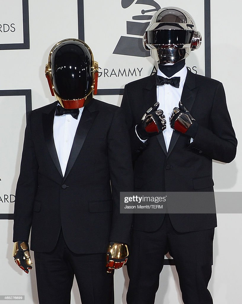 Guy-Manuel de Homem-Christo (L) and Thomas Bangalter of Daft Punk attend the 56th GRAMMY Awards at Staples Center on January 26, 2014 in Los Angeles, California.