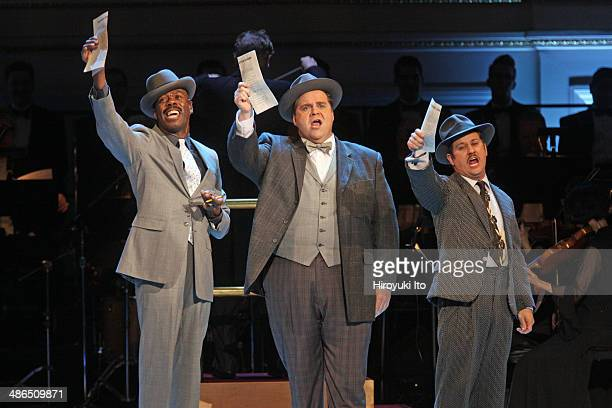 'Guys and Dolls' at Carnegie Hall on Thursday night April 3 2014This imageFrom left Colman Domingo John Treacy Egan and Christopher Fitzgerald