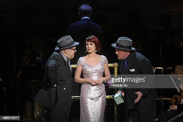 'Guys and Dolls' at Carnegie Hall on Thursday night April 3 2014This imageFrom left Lee Wilkof Megan Mullally and Nathan Lane
