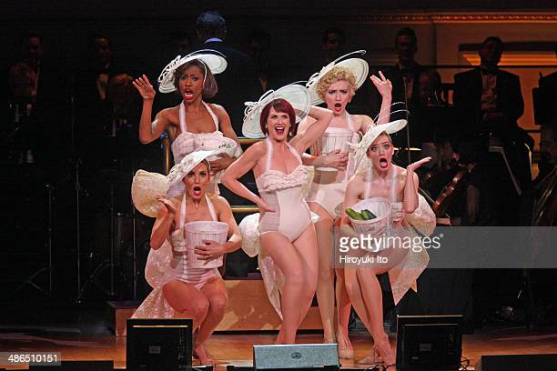 'Guys and Dolls' at Carnegie Hall on Thursday night April 3 2014This imageMegan Mullally center with clockwise from bottom left Katie Webber Jenny...